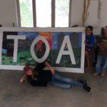 TOA sign at Camp TOA - Teton Outdoor Adventures in Tetonia, Idaho
